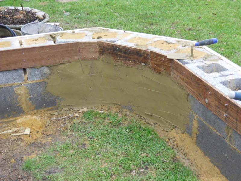 Mo got her bigger pond here 39 s how your pond forum for Cinder block koi pond